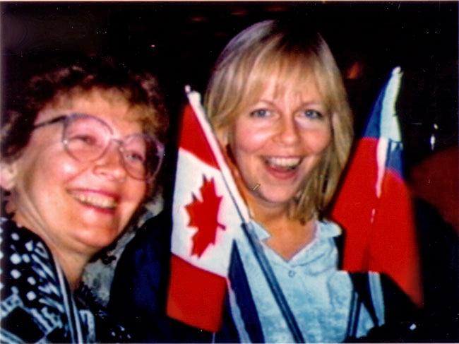 Week 14: Joann and Linda enjoying themselves!