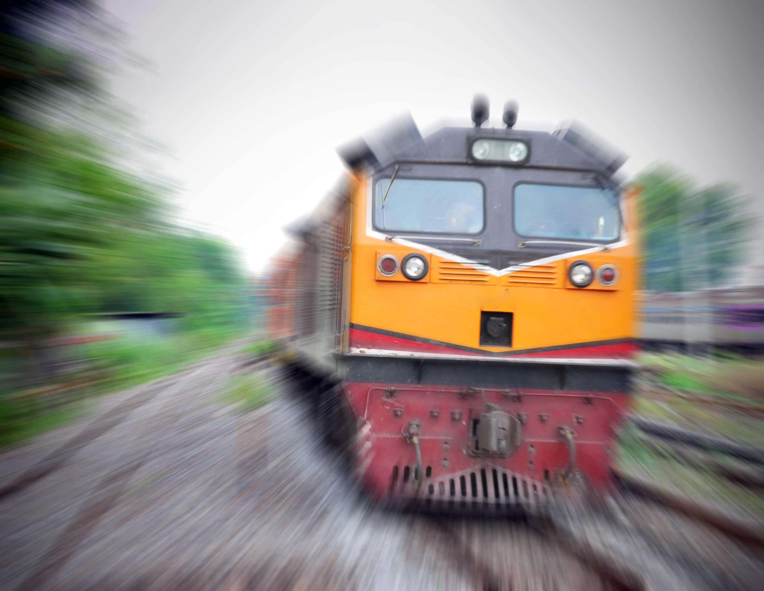 Anxiety like a freight train rushing by